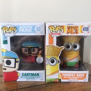 Lot of 2 Funko Pops Hartman and tourist Dave